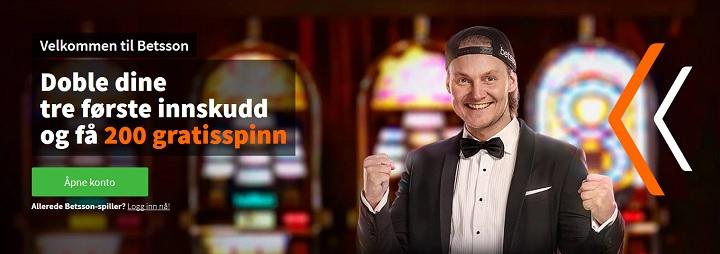 Betsson casinobonus opp till 3000 kr