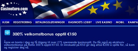 casinoeuro 300% casino bonus