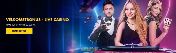100% live casino bonus fra Bethard