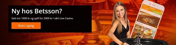 Live casino hos Betsson