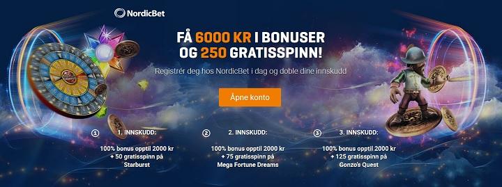 Spill live roulette hos NordicBet casino